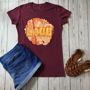 Festival ready hippie boho vibes graphic tee LOVE